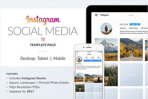Instagram Social Media Template