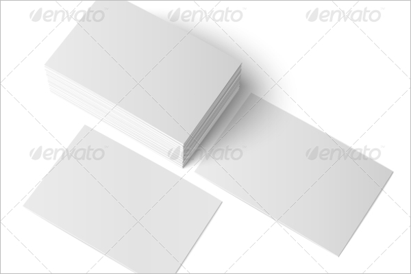 Isolated Blank Business Cards