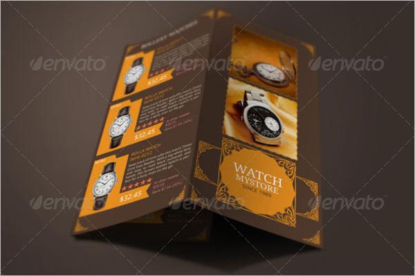 Jewelry Watches Brochure Design