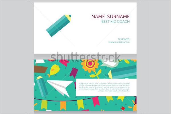 Kid Coach Business Card Design
