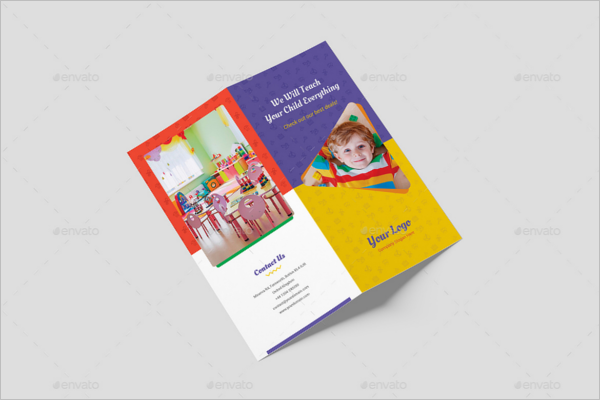 Kids Bifold Brochure Template