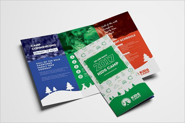 Kids Camp Trifold Brochure Template