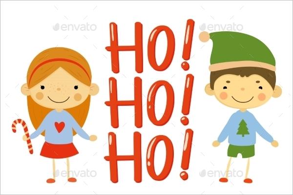 Kids Christmas Elements Vector