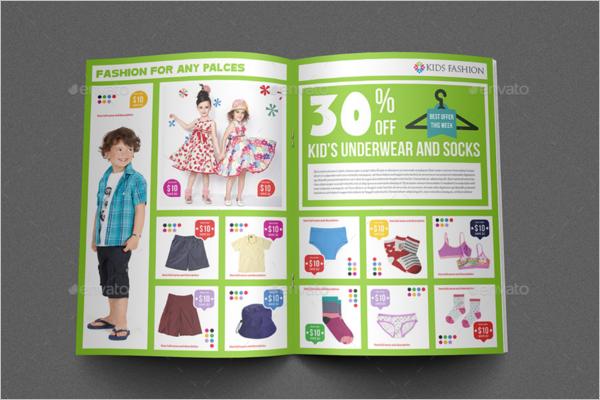 Kids Fashion Brochure Template