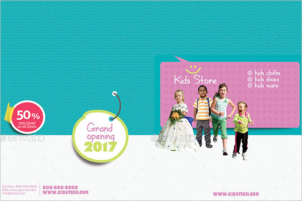 Kids Store Brochure Template