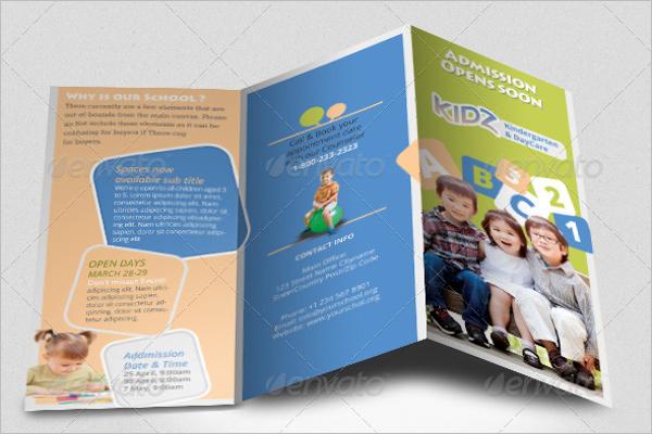 Kidz Preschool Trifold Brochure