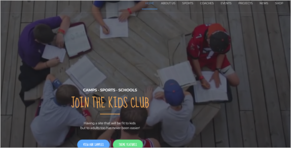 Kindergarten Camp WordPress Theme