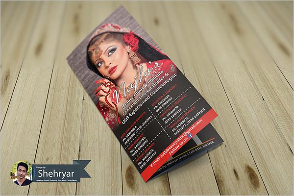 Ladies Beauty Parlour Brochure Template