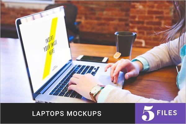 Laptop Mockup Template