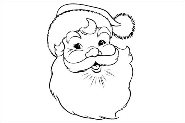 Large Santa Claus Template