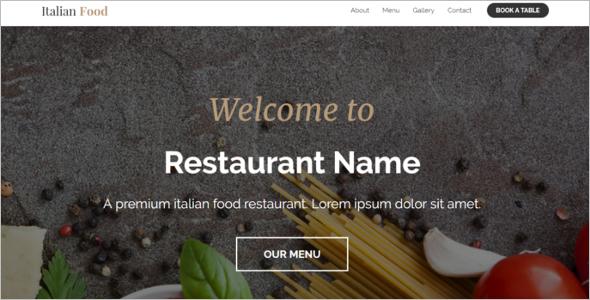 Latest Restaurant Website Template