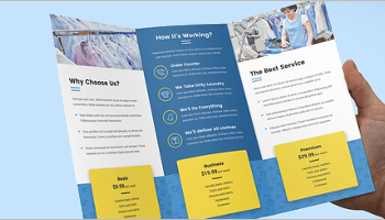 laundry brochure templates