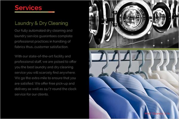 Laundry Pro Brochure Design