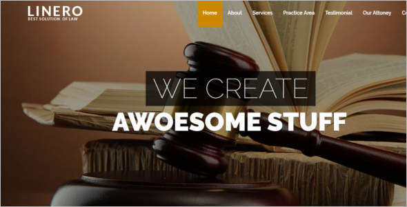Lawer's Website Template
