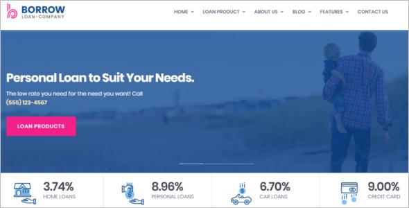 Loan Company Website Template