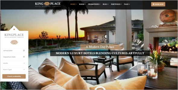 Luxury Hotel WordPress Theme