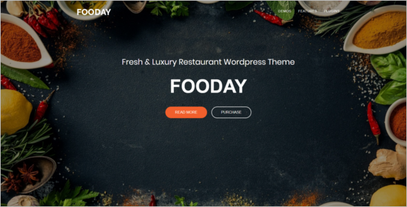 Luxury Restaurant WordPress Theme