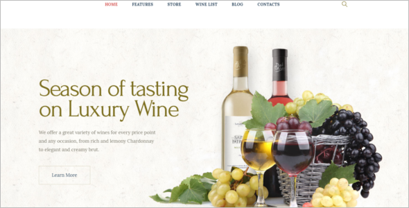 Luxury Wine WordPress Theme