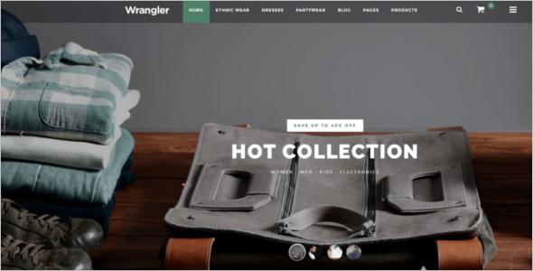 Magento Clothing Website Theme