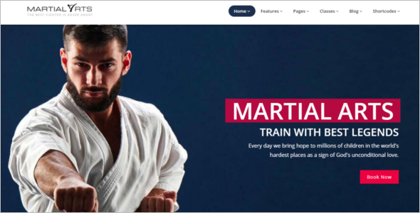Martial Arts Training HTML5 Template