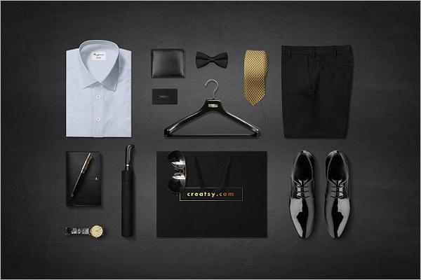 Men Fashion Mockup Template