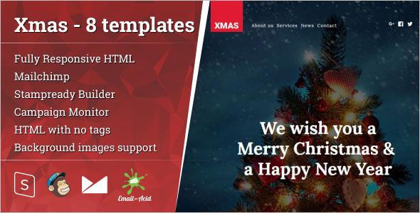 Merry Christmas HTML Template