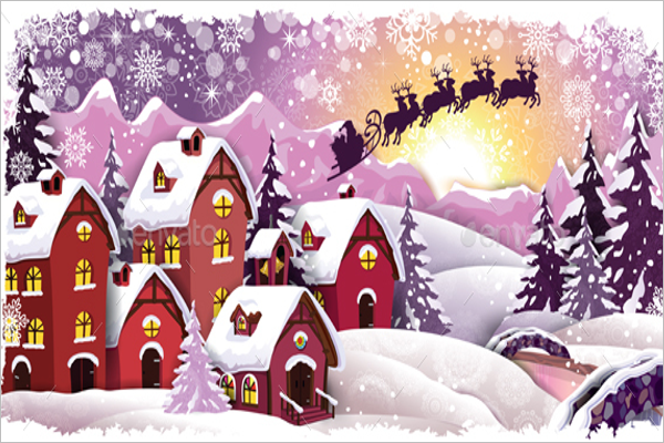 Metro Christmas Village Decorations