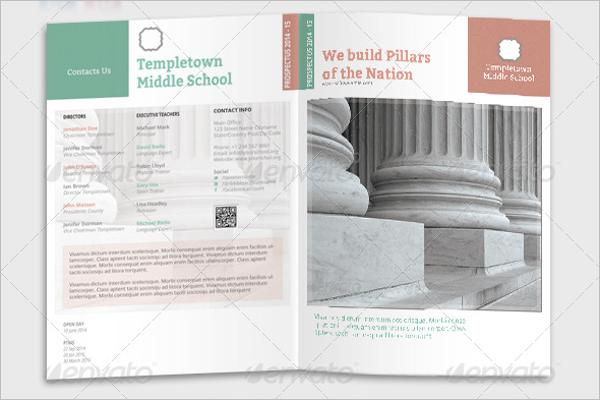 Middle School Brochure Template