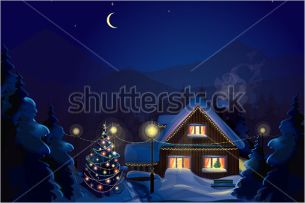 Minimal Christmas Village Decorations