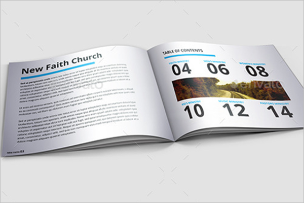 Minimal Church Brochure Template