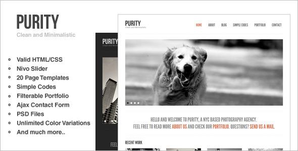 Minimal HTML & CSS Website Template