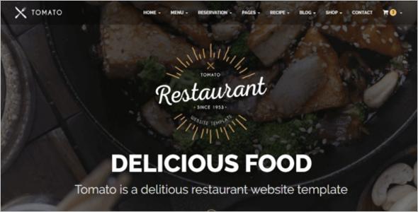 Minimal Restaurant Website Template