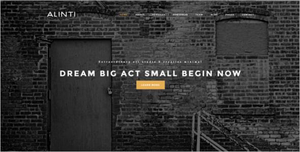 Minimal Vintage Website Theme