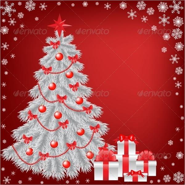 Minimal White Christmas Tree