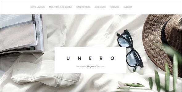 Minimalist Magento Website Template