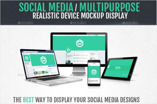 Minimalist Social Media Mockup Template