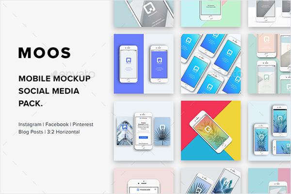 Mobile Mock-Up Social Media