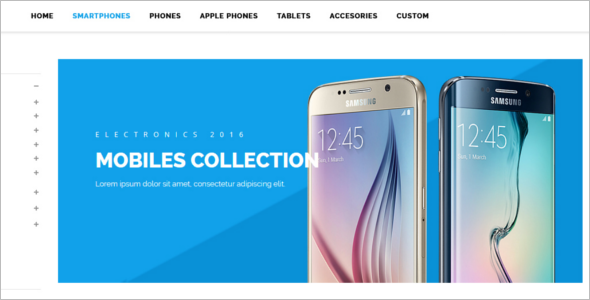 Mobile Store Magento Website Theme