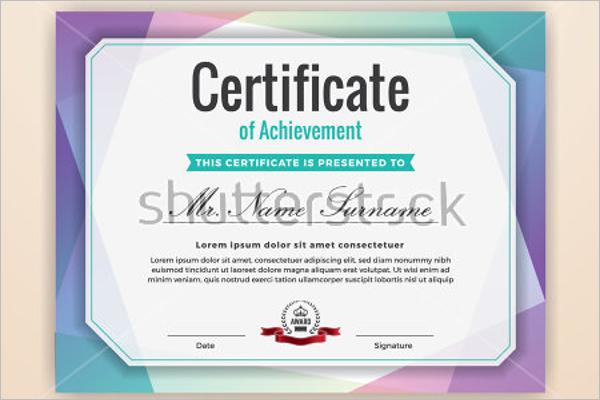 Model Academic Certificate Templates