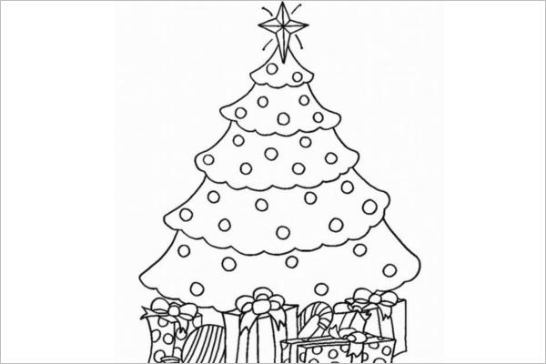 Model Christmas tree Drawing