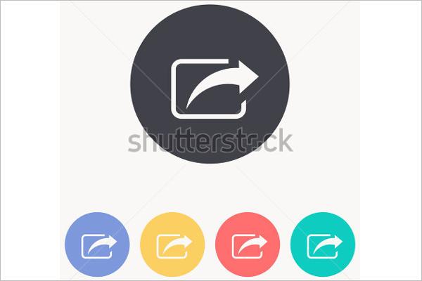 Model Share Icon Design