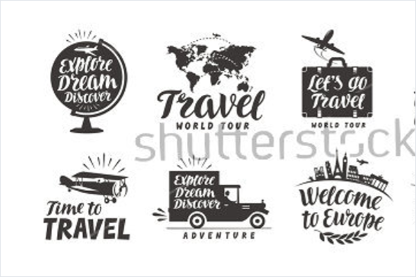 Model Travel Icons Vector