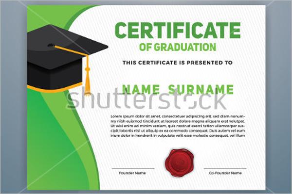 Modern Certificate Of Graduation Template