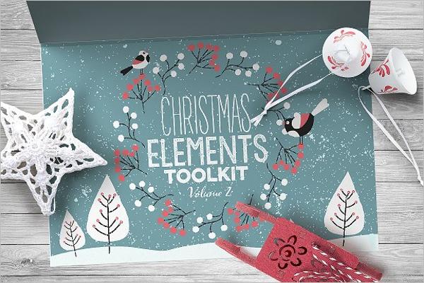Modern Christmas Elements Vector