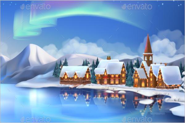 Modern Christmas Village Decorations