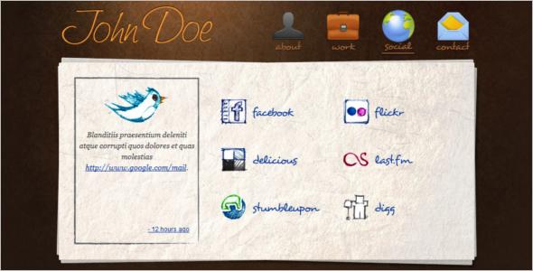 Modern Personal Website Template