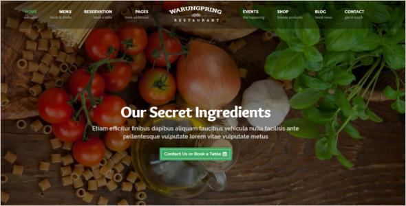 Modern Restaurant Website Template