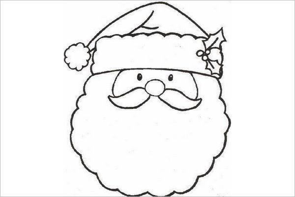 Modern Santa Claus Drawing Design