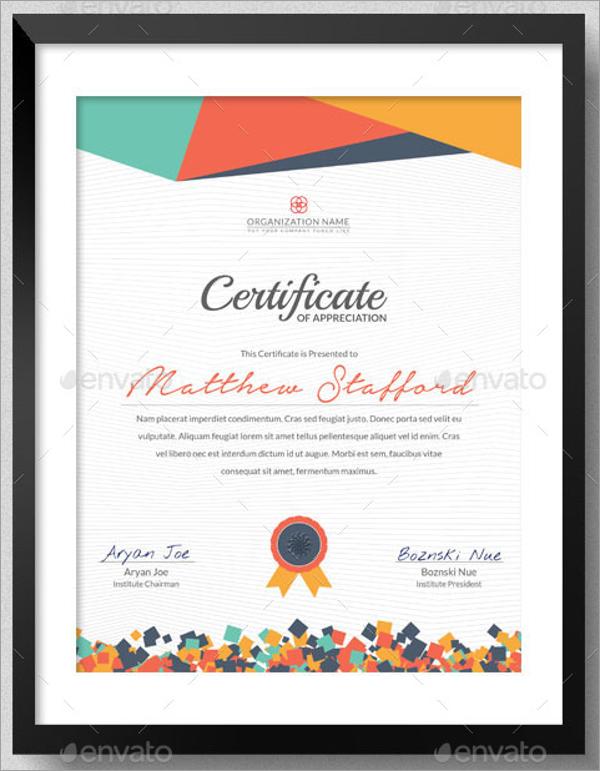 Modern School Certificate Template