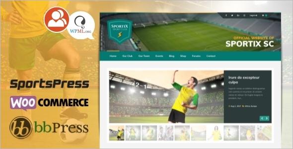 Modern Sports Website Template